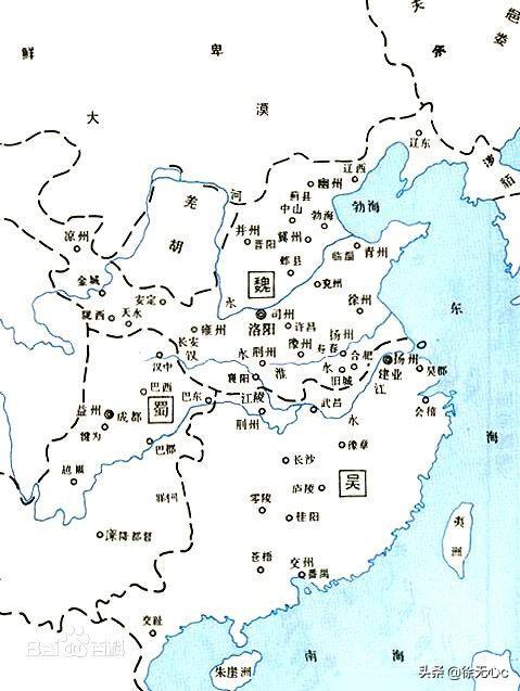 三国时期三大势力分布图