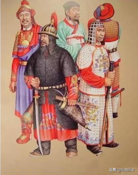 各个朝代武士服饰复原图,明朝最好看,元朝的最丑